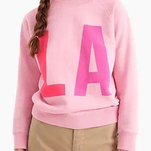 J. Crew Pink LA Sweatshirt SZ S